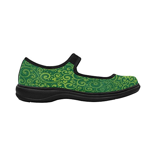 InterestPrint Womens Comfort Mary Jane Flats Casual Walking Shoes BgBv2