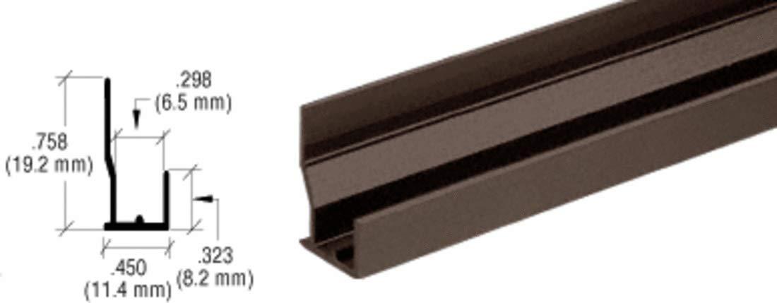 CRL Dark Bronze Aluminum FHA Type ''J'' Channel - D638DU