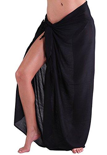 Oryer Womens Sarong Wrap Beach Pareo Swimwear Chiffon Cover up (Beachwear Wrap)