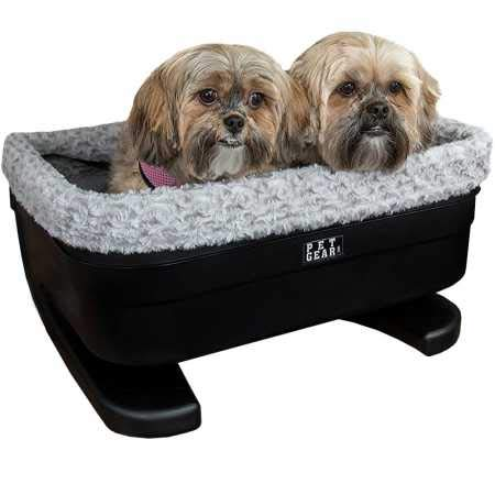 Pet Gear Booster Seat for Dogs Cats, Removable Washable Comfort Pillow Liner, Safety Tethers Included, Installs in Seconds, No Tools Required