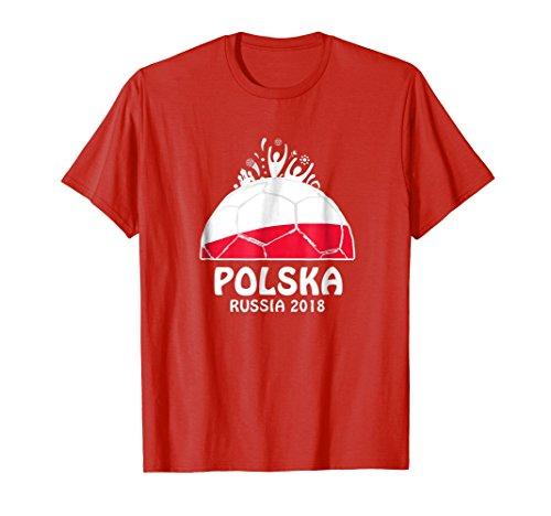 Polska Soccer Shirt World Football Team Cup in Russia (Poland Soccer T-shirt)