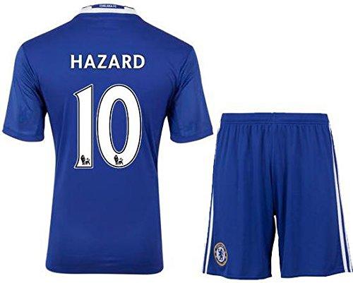 2016-17 Hazard Chelsea #10 Football Soccer Kids Jersey Kit Youth (Y-L)