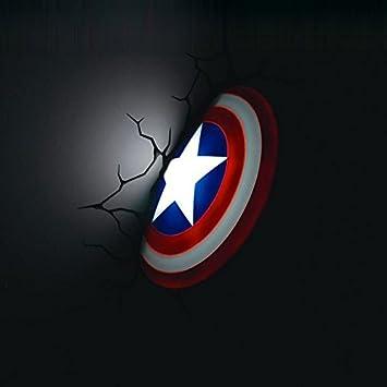 Amazon marvel avengers captain america shield 3d deco light led marvel avengers captain america shield 3d deco light led wall light nightlight item gh8 aloadofball Gallery