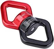 OhhGo 30KN Outdoor Rotational Device Safest Swing Swivel Connector for Rock Climbing Yoga (red Black)