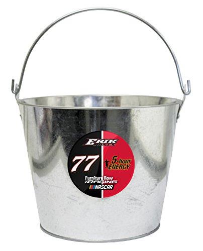 - NASCAR #77 Erik Jones Metal Drink Bucket-NASCAR Ice Bucket