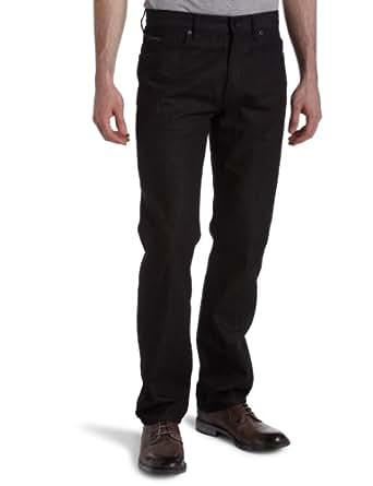 Calvin Klein Mens Rinse Black Straight Leg Jean, Black,31x32