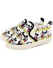 Yefashion Disney Shoes Mickey Mouse Kid Loafer Canvas Boy Sneaker for School Sport Cartoon
