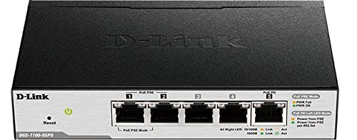 D-Link DGS-1100-05PD Smart Managed PoE-Powered 5-Port Gigabit Switch and PoE Extender by D-Link