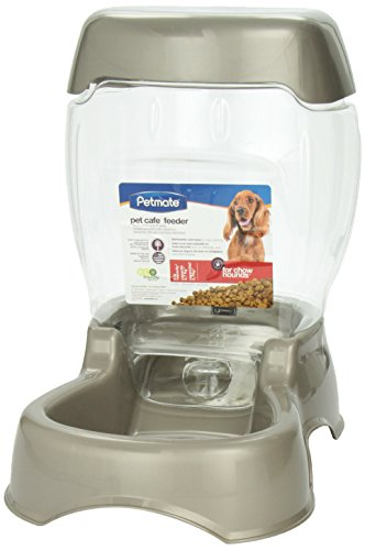 Pet Food Dispenser (Petmate Pet Café Feeder, 6 pound capacity, Pearl Tan)