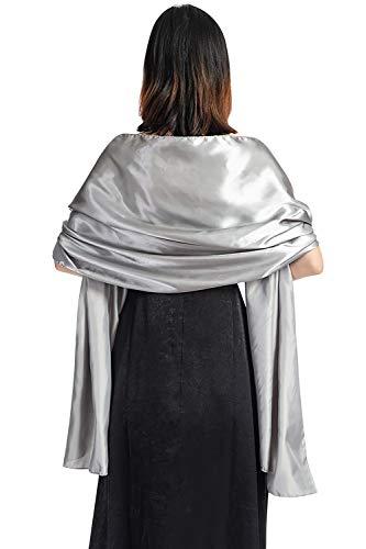 YAOMEI Donna Sciarpa Stole Scialli Raso, Maglia Scialle, per il tempo libero e il commercio nuziale bridemaids Abiti da sera partito