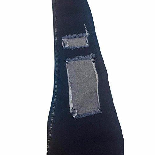 A Pantaloni Alta Stirata Sexy Luoluoluo Donna Strappati Stretti Slim Skinny Vita Jeans Da xqBw8ZwntU