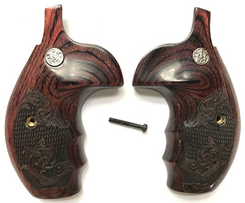Gun Grip Supply Smith & Wesson S&W K/L/X Frame Grips Rosewood Engraved with Medallions (Smith And Wesson Model 10 Grips For Sale)