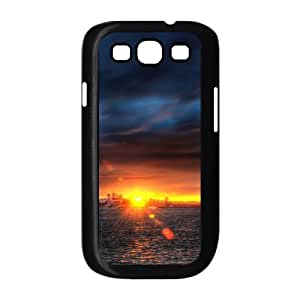 Stevebrown5v Bay Sunset Samsung Galaxy S3 Cases Sunset over the Bay Cute for Girls, Samsung Galaxy S3 Case I9300 Protect Cute for Girls [Black]