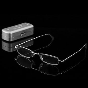 28d2d0776cc Jambo Stainless Steel Full Frame Travel Pocket Hard Eyewear Case   Slim  Folding Foldable Reading Glasses