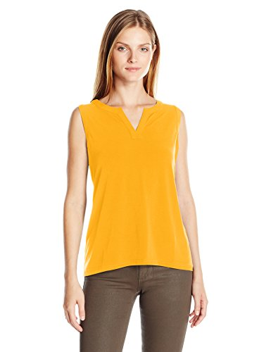 jones-new-york-womens-sleeveless-easy-split-back-pull-over-dark-saffron-x-small