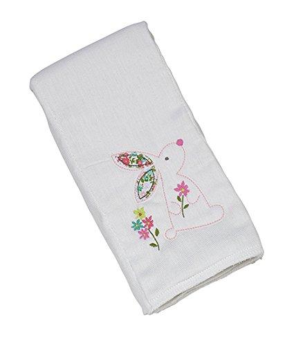 Maison Chic Single Burp Cloth, Beth The Bunny ()