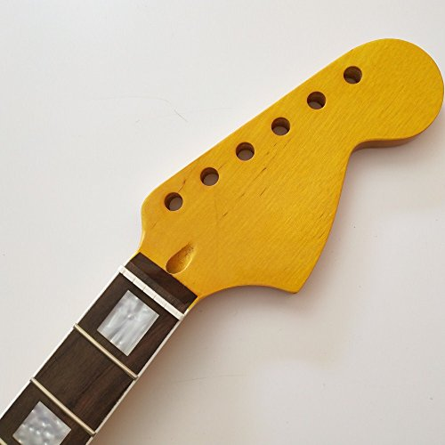wang music1980 Big headstock Maple 22 Frets guitar neck Replacement rosewood Fingerboard for ST style Electric Guitar part