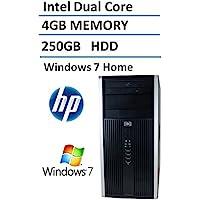 HP Elite Pro Business Desktop mini Tower, Intel Dual Core 3.0GHz Processor, 4GB DDR3 RAM, 250GB HDD, DVD, Windows 7 Home (Certified Refurbish)