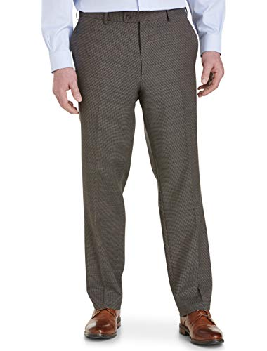 Jack Victor Stretch Geometric Suit Pants Brown ()
