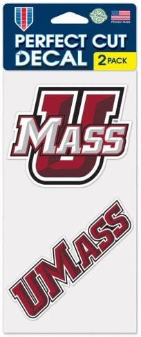 WinCraft UMass Minutemen Massachusetts Minutemen 4x8 Die Cut Decal Two - 4x4 Decals