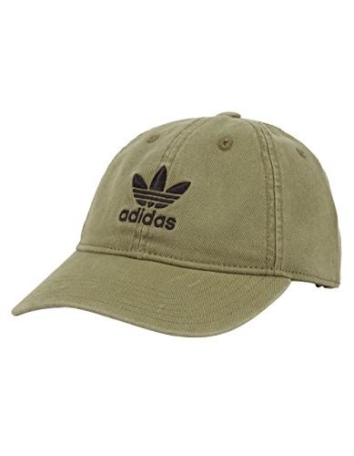 adidas Women's Originals Relaxed Fit Cap, One Size, Olive (Olive Baseball Hat)