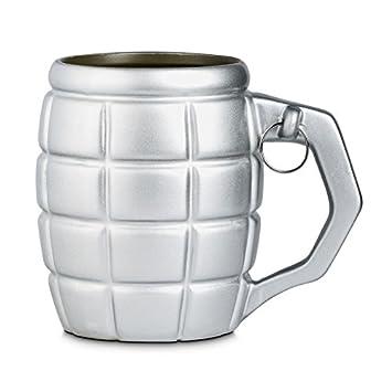 Xxl 790 Bombe Tasse De Café Ml Argent En Avec Grenade uiTwPkOXZ