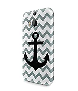 Chevron Pattern With Sailor Anchor Tumblr Plastic Snap-On Case Cover Shell For HTC One M8