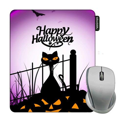 Cowcool Halloween Mouse Pad Halloween Cat Mouse Pads for Computers Laptop Gameing]()
