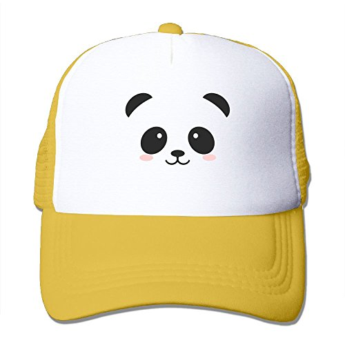 fan products of Antonia Surrey Funny Panda Bear Love Basketball Baseball Cap Skull Cap Operator Cap Tactical Cap Vintage Washed Dyed Cotton Low Profile Adjustable Baseball Cap Yellow