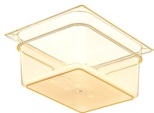 Carlisle 10422B13 High Heat One-Half Size Food Pan, 8.7-quart Capacity, 6'' x 10.38'' x 12.75'', Amber (Case of 6) by Carlisle (Image #2)