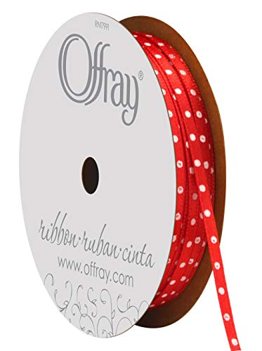 Offray Double Face Satin Mini Dot Craft Ribbon ()