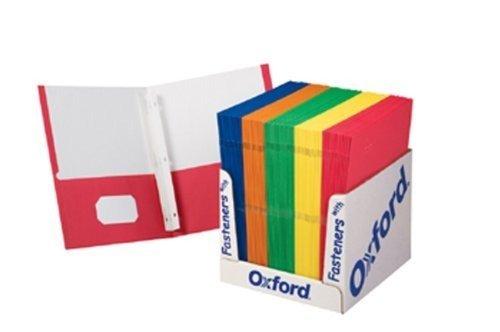 School Grade Twin Pocket Folders with Fasteners; 100 per Box; no. ESS50764
