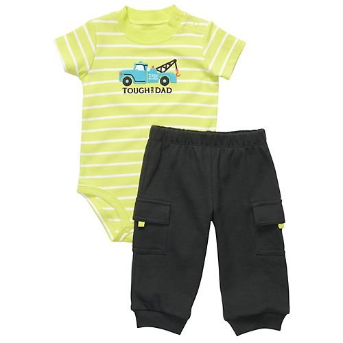 Carters Baby Boys' Tow Truck Onesie Pant Set