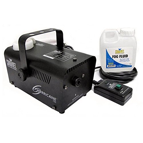 Fog Smoke Effect Machine with Fog Fluid and Remote Stage Party Halloween Disco Club Led Concert Live Effects Fogger Chauvet DJ Hurricane H-700 (All Recipes Halloween)