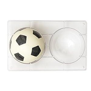 Decora 0050105 Moule DE Polycarbonate Ballon DE Football Ø 120 MM 275X175X22 MM, Transparent 12