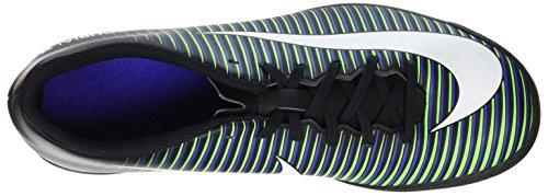 Nike Mercurial Vortex III TF Zapatillas de fútbol sala, Hombre Negro (Black/Paramount Blue/Electric Green/White)