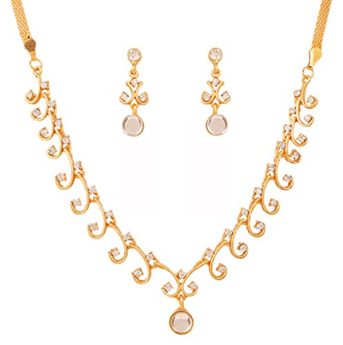 [Touchstone Hollywood Glamour white Austrian crystals grand jewelry necklace set in gold tone for] (Red Indian Princess Costume)
