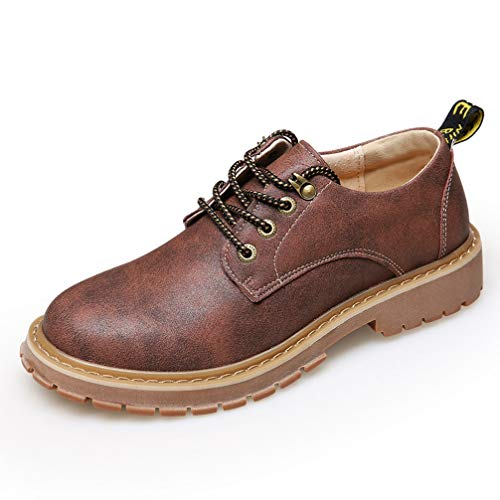Phil Betty Mens Booties Round-Toe Lace Up Non-Slip Breathable Casual Martin Shoes ()
