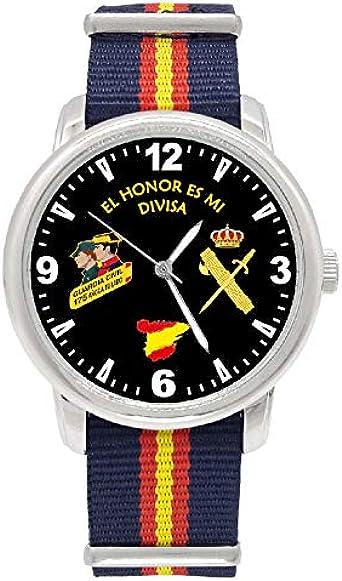 Reloj Guardia Civil Q&Q Correa Bandera España Azul Esfera Negra ...