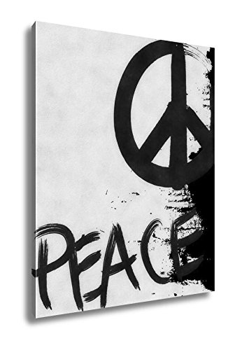 Ashley Canvas Vintage Grunge Peace Sign Wall decorations