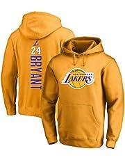 yacn Lakers Basketball Jersey Pullover, Kobe NO.24 Jersey Hoodies Sweatshirt Warm Men's Sportswear
