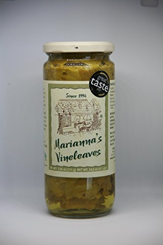 Marianna's Organic Vine Leaves Great Taste Award 2013 1 star drained weight 200gr (Vine Leaf Star)