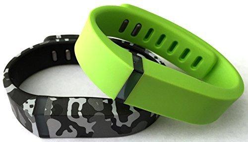 [해외]소형 1 라임 그린 1 위장 카모 군용 Fitbit 용 밀리터리 컬러 밴드 FLEX 전용 걸쇠로 교체 없음 트래커 없음/Small 1 Lime Green 1 Camouflage Camo Army Military Color Band for Fitbit FLEX Only With Clasps Replacement  No tracker