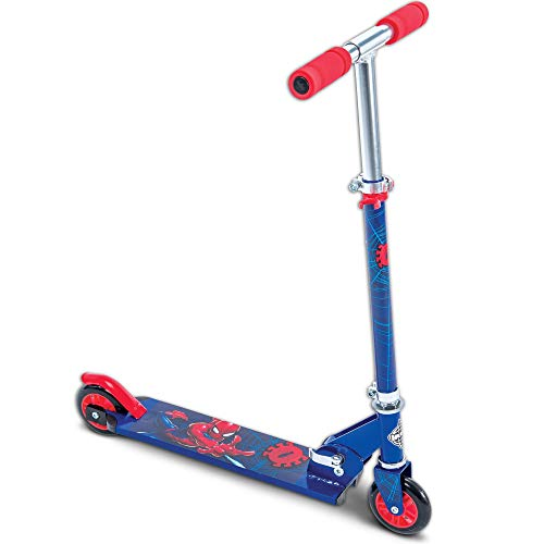 (Marvel Spider-Man Boys' Inline Folding Scooter, by huffy)