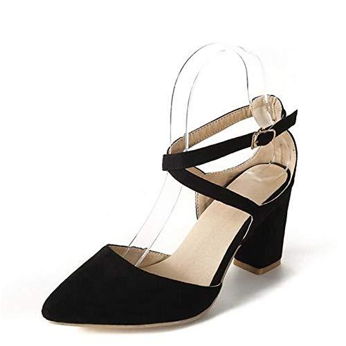 Suede Red Almond Chunky Spring Heel Heels Women'S Shoes QOIQNLSN Comfort Black Black nzvHUE