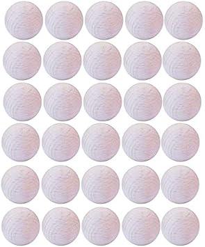 Gerileo Lote de 10/20/30 Bolas de futbolín de Madera de Haya 33mm - Remplazo, Recambio, balones, Pelota (30 Bolas): Amazon.es: Juguetes y juegos