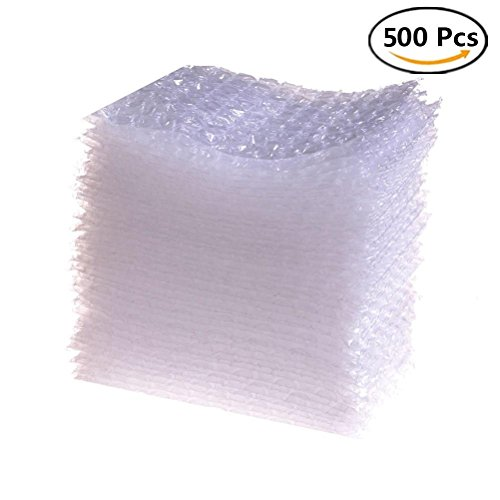 JiaUfmi 500 Pieces Bubble Pouches Bags Protective Double Walled Clear Cushioning Bags for Shipping, Storage and Moving - 4 x 6 Inches by JiaUfmi