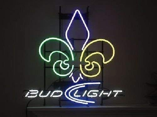 "Desung 20""x16"" New Orleans Sports Team Saint Bud-Light Neon Sign (Multiple Sizes) Man Cave Bar Pub Beer Handmade Neon Light FX45"
