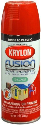 Krylon K02328001 Fusion For Plastic Spray Paint, Red Pepper, 12 Ounce