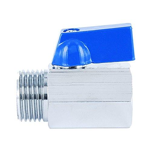 poign/ée aluminium et hauteur r/éduite raccord filet/é femelle x femelle Connecteur /à bille de laiton style mini /à passage r/éduit